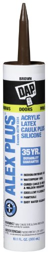 dap-18112-alex-plus-acrylic-latex-caulk-plus-silicone-brown-101-oz-cartridge-18120