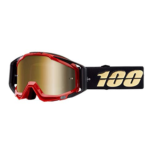 - 100% RACECRAFT Goggles Hot Rod - Mirror True Gold Lens, One Size