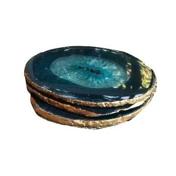 Amazon Com Agate Coasters Teal Colored Agate Coasters