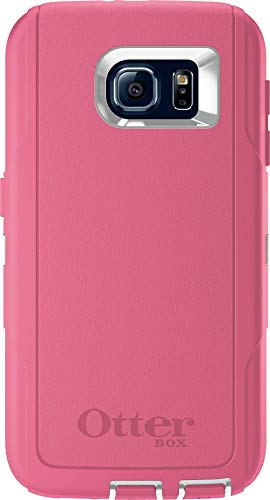 OtterBox Defender Series Case for Samsung Galaxy S6 - Case Only (No Holster) Non-Retail Packaging - Hibiscus Pink/White