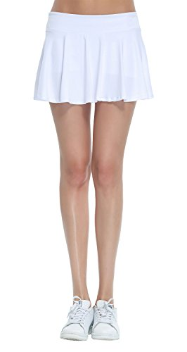 Women's Fitness Pleated Skirts Active Running Tennis Golf Lightweight Skorts With Built-In Shorts Size Large (Skort Fitness Skirts)