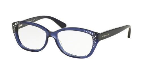 COACH Eyeglasses HC 6076 5110 Navy - Coach Blue Frames Eyeglass