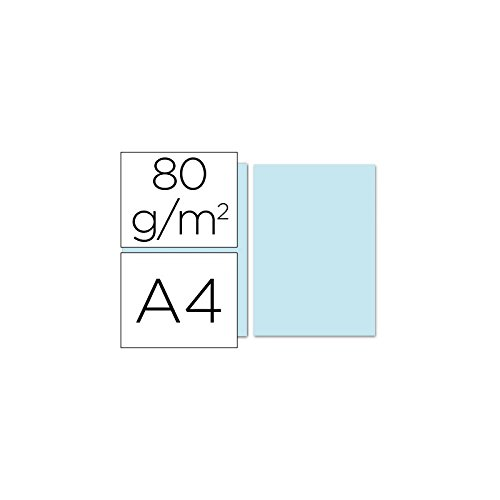 Azul claro Papel DIN A4 monocolor