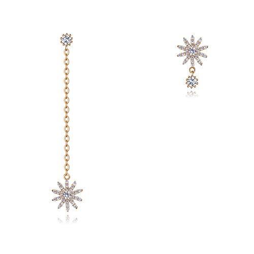 Hypoallergenic Earrings Sweet Temperament Personality Asymmetric Sun Flower Earrings Earrings A2
