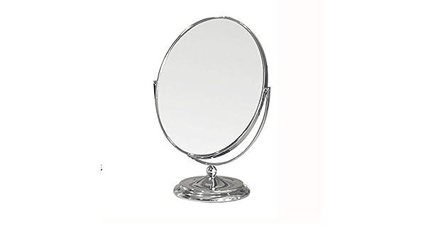 ZJW Espejo de Maquillaje de Escritorio de Doble Cara HD Espejo ...