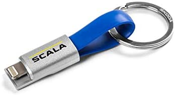 Skoda 657051445 Key Chain Duo Charging Cable Scala Keyring Charger Pendant
