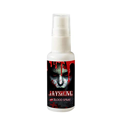 30ML/1 Fl.oz Realistic Fake Blood Makeup Spray Scary Face and Body Paint Halloween Dress Up Cosplay Accessories]()