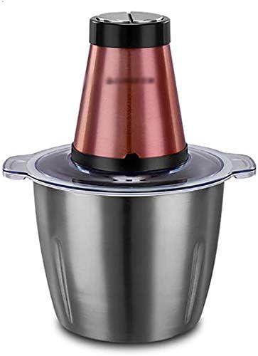 ZY Robot de Cocina for Picar Carne, Vegetales Chopper, eléctrico Mini Chopper Alimentos, 3L de Gran Capacidad, for la Carne chuleta, Cebolla, ajo, nueces, Alimentos for bebés, 300 W LOLDF1: Amazon.es