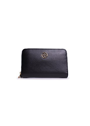 Tory Burch Robinson Smartphone Wristlet Wallet in Black by Tory Burch