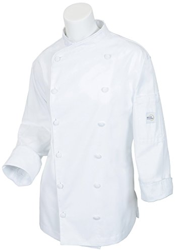 Mercer Culinary M62040WH3X Renaissance Women's Scoop Neck Chef Jacket, 3X-Large,