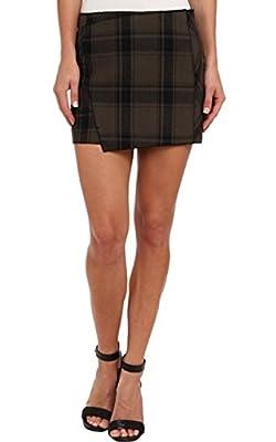 Free People Mid Rise Plaid Skirt