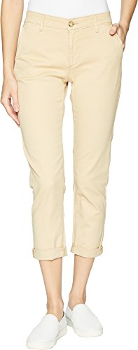 Ag Adriano Cotton Jeans - AG Adriano Goldschmied Women's Caden Tailored Trouser, Sulfur Sand Dune, 28