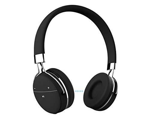 Portronics POR 645 Muffs Pro Wireless Bluetooth Headphone with AUX Port  Black