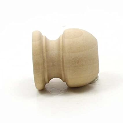 Mylittlewoodshop Pkg Of 6 Finial Dowel Cap 1 116 Tall With 12 Inch Hole Unfinished Wood Ww Dc8005 6
