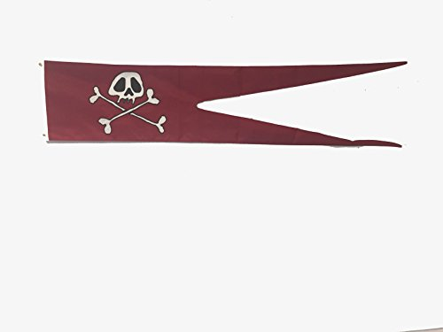 (Gettysburg Flag Works 12x58 Wacky Jack Pirate Flag, Pennant for Boat, Fun Pirate Flag for Boating or Nautical decoration, All Weather Nylon for Outdoor)