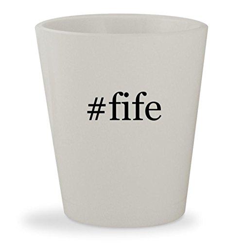 #fife - White Hashtag Ceramic 1.5oz Shot Glass