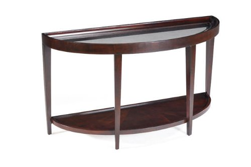 Magnussen T1632-75 Carson Sienna Finish Wood Demi Sofa Desk Table ()