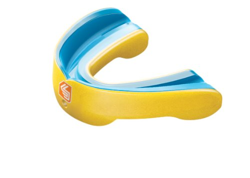Shock Doctor Gel Nano Convertible Mouthguard (Pearl Yellow, Adult)