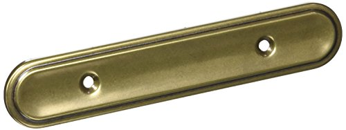 "Amerock BP3426-BB Burnished Brass Back Plate, 3"" Hole Centers - 10 Pack"