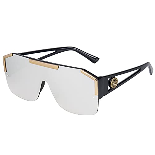 Oversized Sunglasses for Women, Square Sunglasses for Women and Men UV400 Protection(Gray)