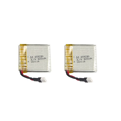 2pcs 3.7V 500mAh RC Quadcopter Drone Spare Parts Replacement Batteries for tech rc TR002 T901F TR005