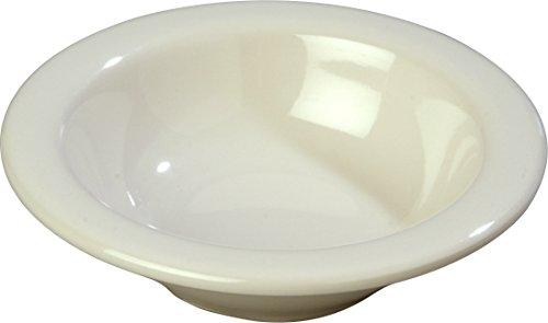 - Carlisle (4304242) Durus Rimmed Fruit Bowls, Case of 48 (4 1/2-Ounce, SAN, Melamine, Bone)