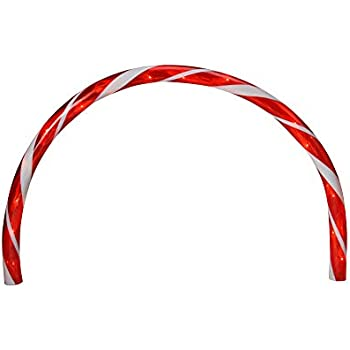 Amazon Com Set Of 8 Lighted Candy Cane Christmas Lawn