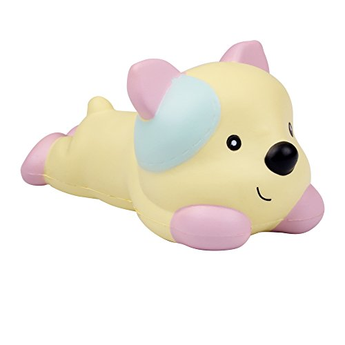 Cheap AIKEMI Squishies Slow Rising Dog Animal Squishy Squeeze Toy Stress Relief Fathers Day Gifts (yellow) free shipping