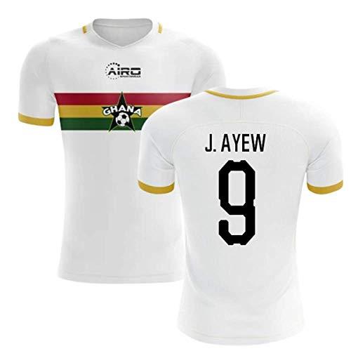 2019-2020 Ghana Away Concept Football Soccer T-Shirt Jersey (Jordan Ayew 9)