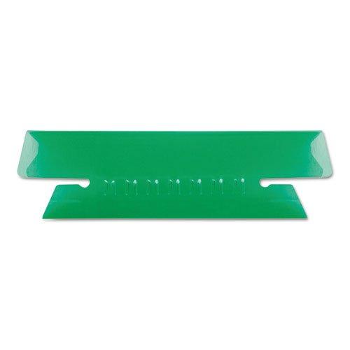 Pendaflex Hanging File Folder Tabs, 1/3 Tab, 3.5 Inches, Green Tab/White Insert, 25 per Pack (43-1/2-GRE)