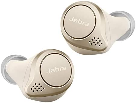 Jabra Elite 75t - Auriculares inalámbricos (Bluetooth 5.0, True Wireless) con Alexa integrada, Oro y Beige