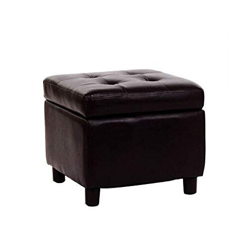 Cafe Ottoman - ZLZDZ Footstool and Ottomans Small Storage Footstool, Multi-Functional Padded Ottoman Replacement Shoes Footstool Living Room Bedroom Cafe, Black, 454538cm Home Office Outdoor Camping Table Stool