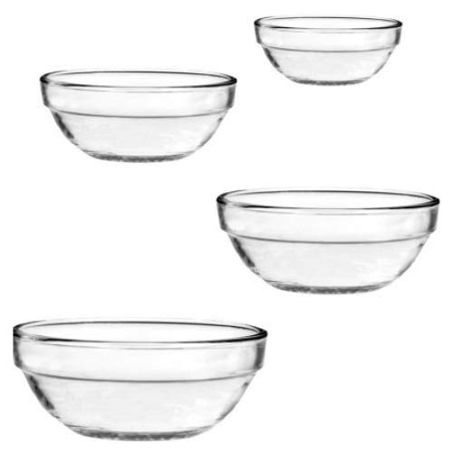 4 Pc. Nesting Bowl Set (1 qt./.9L , 1.5 qt/1.4L , 2.5 qt./2.4L & 3.5 qt./3.2L Bowls)