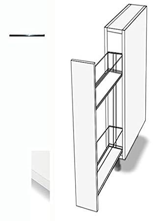 Elegant Premium Ambiente ASR86 Unterschrank Apothekerschrank Vollauszug Softclosing 20cm  Breit FMDFA (86 Bianco)