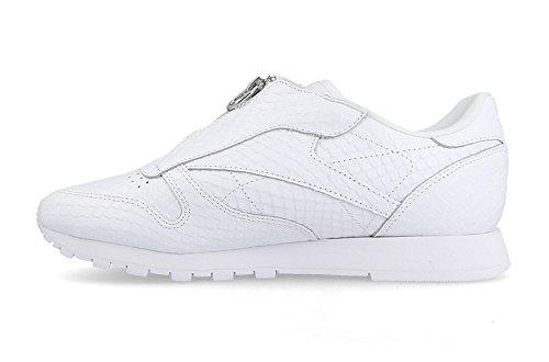 Reebok Damen Classic Leather Zip Sneaker Weiß (White)