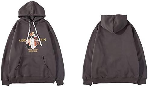 YDMZMS Herren Hoodie Funny Angels Print Hoodies Sweatshirts Lässige Kleidung Kapuzenpullover Oberteile S Grau