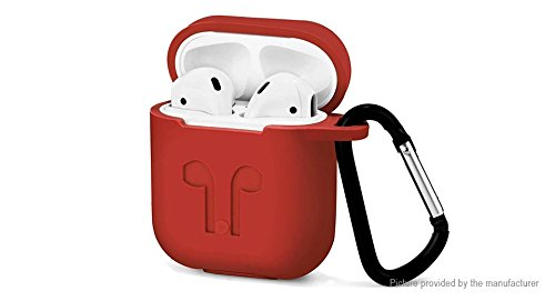 Silicone Protective Cover Case for Apple AirPods (red) from chimi