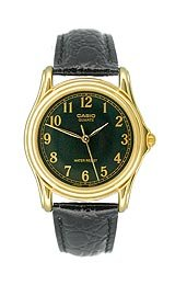 Casio Men's Leather Strap watch #MTP-1096Q-1B