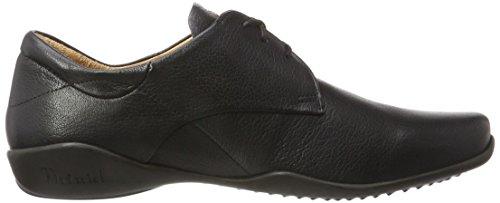 Think Stone, Zapatos de Cordones Derby para Hombre Schwarz (Schwarz 00)