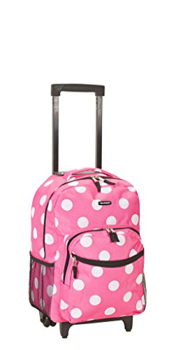 rockland-luggage-17-inch-rolling-backpack-pink-dot-medium
