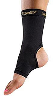 966299e008 CopperSport Copper Compression Ankle Sleeve Support - Suitable for  Athletics, Tennis, Golf, Basketball