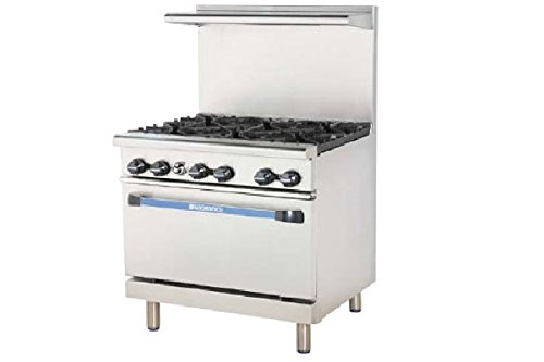 Turbo Air Radiance Restaurant Ranges gas TAR-6 by Turbo Air