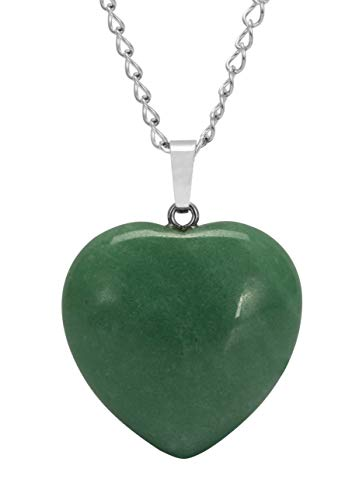 You are My Only Love Natural Aventurine Necklace Healing Crystals Reiki Chakra 18-20 Inch Gemstone Pendant Heart Necklace Great Gift #GGP8-3