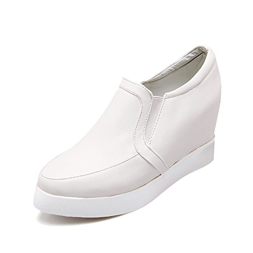 women s wedge heel sneaker loafers high heel pointed toe