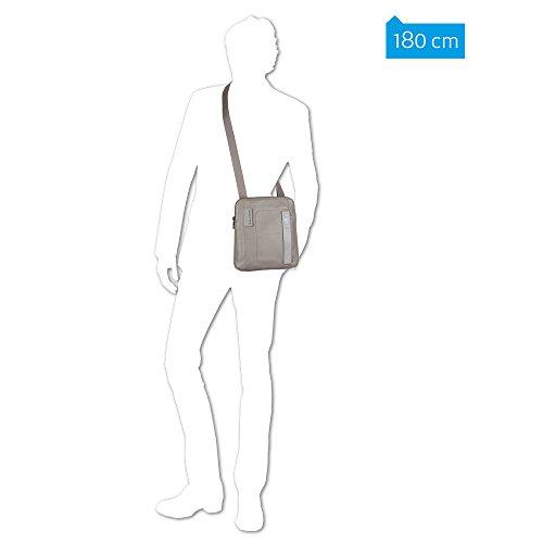 Piquadro - Bolso al hombro para hombre, marrón (Marrón) - CA1358P15/M negro