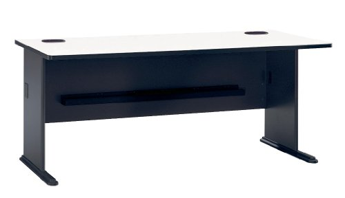 "Bush Business Furniture Office Advantage Desk 72""W, Slate/White Spectrum, Standard Delivery"