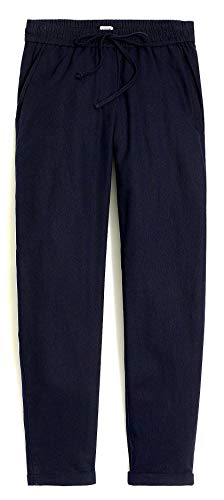 - J. Crew - Women's - Relaxed-Fit Drawstring Pants (Multiple Size/Color Options) (12, Navy)