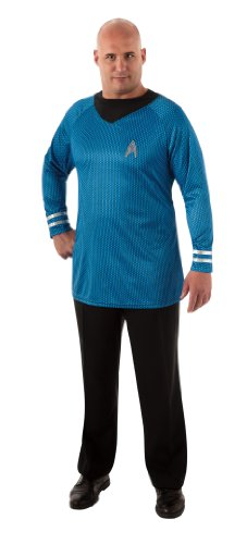 Rubie's Plus-Size Star Trek Into Darkness Deluxe Spock Shirt With Emblem, Blue/Black, Plus -