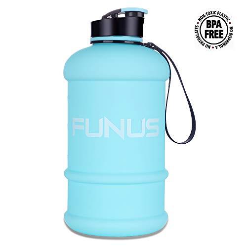 Super High Matte - FUNUS Big Water Bottle 1.3-2.2L Water Bottle Huge Big Leak Proof BPA Free Large Water Jug for Workout Fitness Gym Outdoor Hiking Sport Half Gallon Water Jug (1.3L Matte SkyBlue)