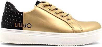 Liu Jo Scarpe Donna Sneakers Basse 469707EX01400529 Sarah 21 Taglia 40 Oro-Nero